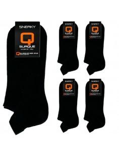 Suaque Sneaker 40-46 Sokken Zwart 6 pack