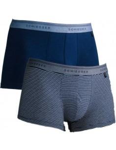 Schiesser Heup short 2Pack Blue Stripe 95/5 Boxershort