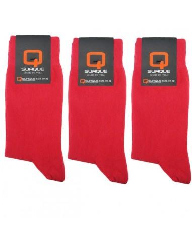Suaque Heren sokken 3Pack Cotton Comfort 39-42 Rood