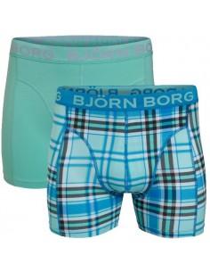 Björn Borg Boxershort 2Pack Fresh Check Swedish Blue