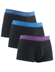 Calvin Klein Ondergoed Color band 3 blues pack low rise trunk