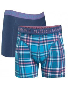 Bjorn Borg 2 Pack Fresh Check Kinder Boxershorts