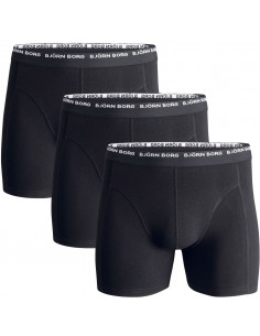 Björn Borg Shorts 3Pack 3 To Go Black Boxershorts