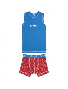 Lief! Shirt & Short Set Star Kobalt Super Actie! Kinderondergoed