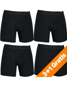 HOM HO1 Original New Long short Zwart 4Pack Boxershorts Actie 3+1 Gratis