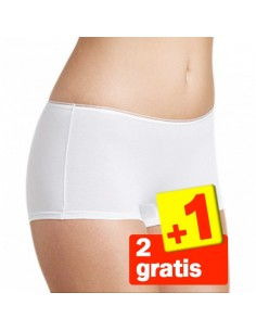 Sloggi Feel Sensational Short 02 Wit 3Pack 2+1 Gratis