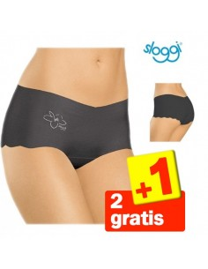Sloggi Invisible Light Cotton Short Zwart 3Pack 2+1 gratis