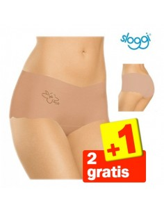 Sloggi Invisible Light Cotton Short Huid 3Pack 2+1 gratis