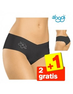 Sloggi Invisible Light Cotton Hipster Zwart 3Pack 2+1 gratis