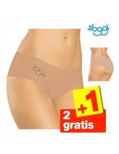 Sloggi Invisible Light Cotton Hipster Huid 3Pack 2+1 gratis