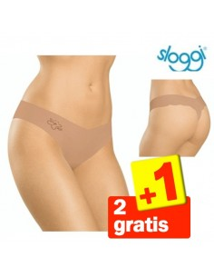 Sloggi Light Cotton String Huid 3Pack 2+1 gratis