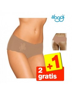 Sloggi Light Short Huid 3Pack 2+1 Gratis