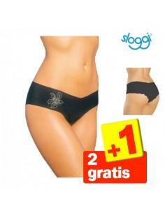 Sloggi Light Hipster Zwart 3Pack 2+1 Gratis
