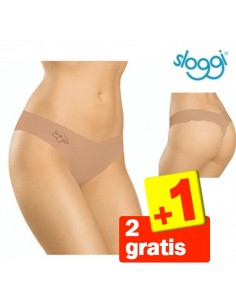 Sloggi Invisble Light String Huidkleurig 3Pack 2+1 Gratis
