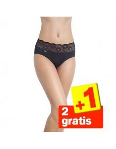 Sloggi Romance Midi Slip Zwart 3Pack 2+1 gratis