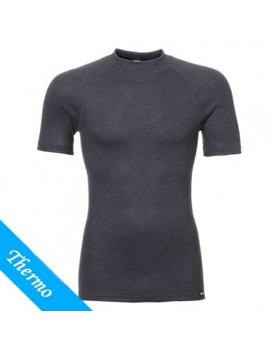Ten Cate Heren Thermo Shirt Antraciet ronde hals korte mouw