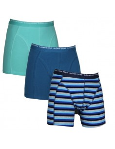 Björn Borg Shorts 3Pack 3 To Go Basic Stripe Mood Indigo Boxershorts