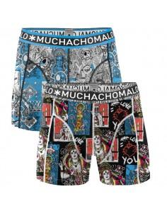 MuchachoMalo Schiffmacher Special Print 2Pack met Gratis T-Shirt Kinder Ondergoed