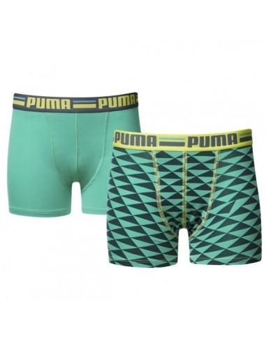 Puma Boxershort Triangled Sea Green 2Pack