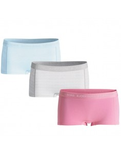 Bjorn Borg Dames Mini Short 3Pack Basic Sachet Pink