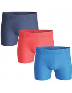 Björn Borg Boxershorts 3Pack Seasonal Solid Brilliant Blue