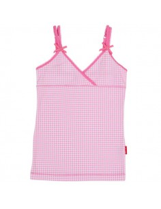 Claesen's Meisjes Singlet Small Pink Checks