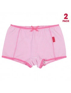 Claesen's Meisjes 2Pack Boxer Small Pink Checks
