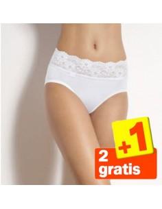 Sloggi Romance Midi Slip Wit 3Pack 2+1 gratis