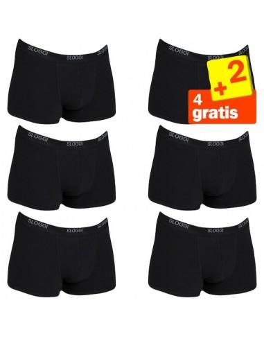 Sloggi Men Basic Short Zwart 4+2 gratis