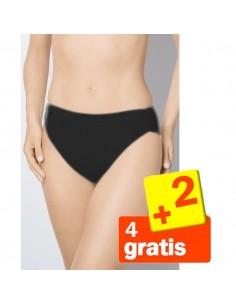 Sloggi Basic Tai Slip Zwart 6Pack 4+2 Gratis!