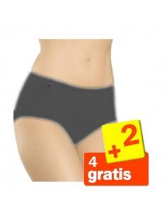 Sloggi Basic Midi Slip Zwart 6Pack 4+2 gratis!