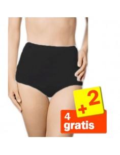 Sloggi Basic Maxi Slip Zwart 6Pack 4+2 Gratis!