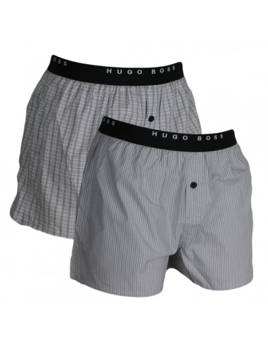 Hugo Boss Woven Boxershorts 2Pack Open Grey