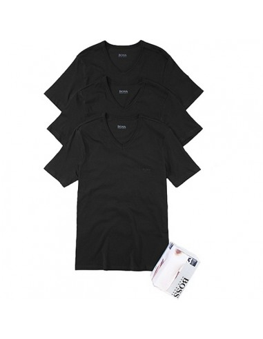 Hugo Boss Shirt V-Neck 3Pack Zwart
