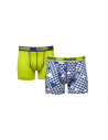 Puma Boxershort Graphic Yellow Blue 2Pack