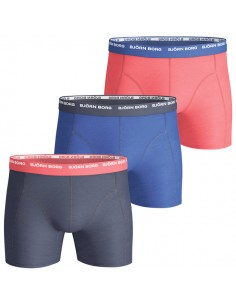 Björn Borg Boxershorts 3Pack Seasonal Contrast Peacoat Red Blue