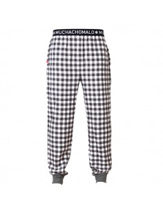 MuchachoMalo Woven Lounge Broek Check Black White Kinder Ondergoed