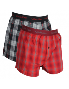 Calvin Klein Ondergoed Woven 2 Pack grey - Red combo