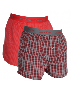 Calvin Klein Ondergoed Woven 2Pack Black BXR Cool Red
