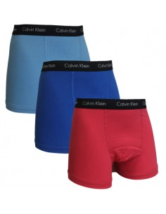 Calvin Klein Ondergoed color mix  3 pack Ping blue aqua long trunk