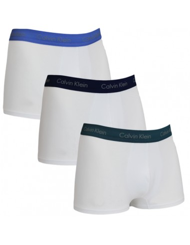 Calvin Klein Ondergoed White Color band boxer 3 pack low rise trunk