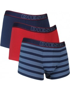 Diesel Divine UMBX 3Pack Boxershort Blue Red Stripe