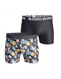 Björn Borg Boxershort Polyamide 2Pack Mystique Black Flower