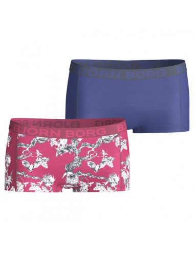 Bjorn Borg Dames Mini Shorts 2Pack Storybook Beet Red