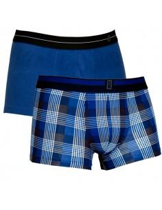 Schiesser Heupshort 2Pack Blue Check 95/5 Boxerhort