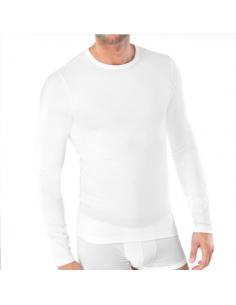 Schiesser T-Shirt wit lange mouw