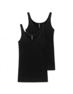 Schiesser Dames Hemd 2Pack Zwart