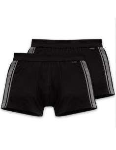 Schiesser Cotton Essentials 2Pack Short Black Boxerhort