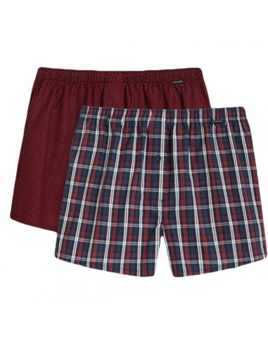 Schiesser Woven Boxershorts 2Pack Rood