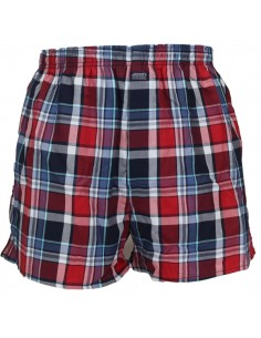 Jockey Boxershort Klassiek Woven Navy Red